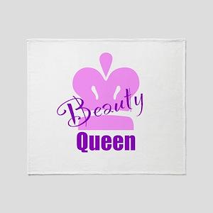 Beauty Queen Throw Blanket
