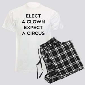 Anti Trump Elect A Clown Men's Light Pajamas