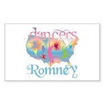 Election Gear for Dancers Sticker (Rectangle 50 pk