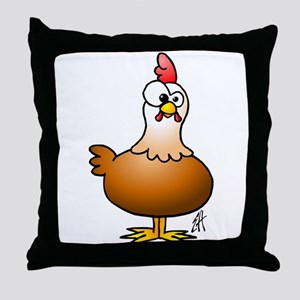 Cheerful Chicken - Hen Throw Pillow