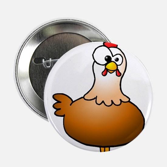 """Cheerful Chicken - Hen 2.25"""" Button"""