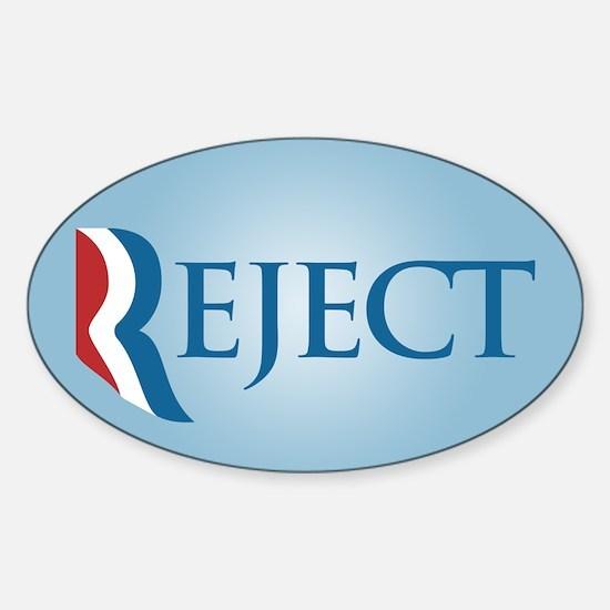 Romney Parody Reject Sticker (Oval)