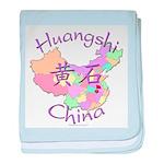 Huangshi China Map baby blanket