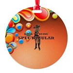 Spectacular Girl Round Ornament