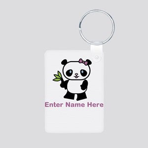 Personalized Panda Aluminum Photo Keychain