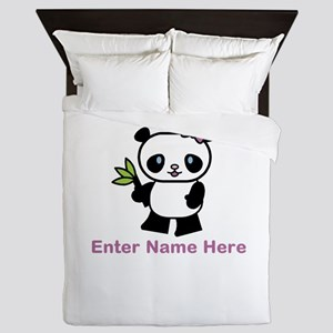Personalized Panda Queen Duvet