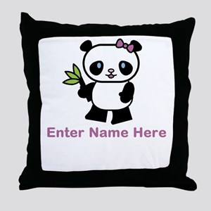 Personalized Panda Throw Pillow
