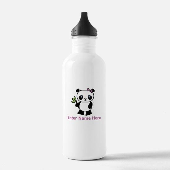 Personalized Panda Water Bottle