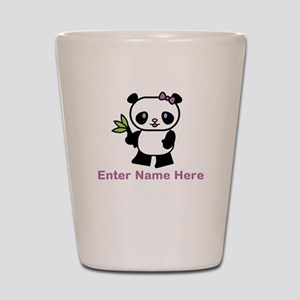 Personalized Panda Shot Glass