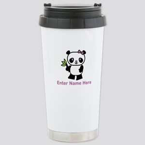 Personalized Panda Stainless Steel Travel Mug