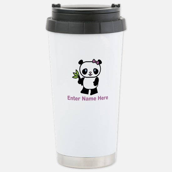 Personalized Panda Stainless Steel Travel Mug
