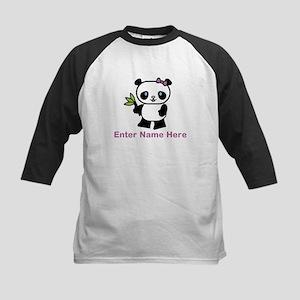 Personalized Panda Kids Baseball Jersey