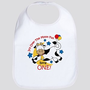 Cow Over Moon 1st Birthday Bib