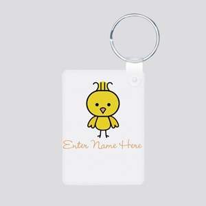 Personalized Baby Chick Aluminum Photo Keychain