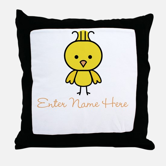 Personalized Baby Chick Throw Pillow