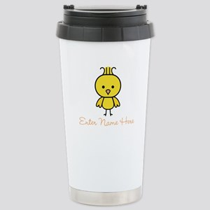 Personalized Baby Chick Stainless Steel Travel Mug