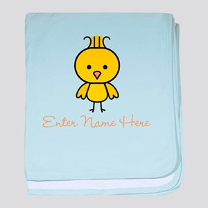 Personalized Baby Chick baby blanket