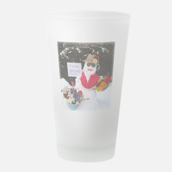 SnowLady1010.png Frosted Drinking Glass