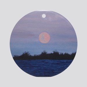 Moonrise at the Lake Ornament (Round)
