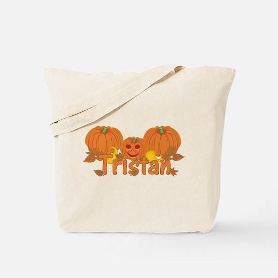 Halloween Pumpkin Tristan Tote Bag
