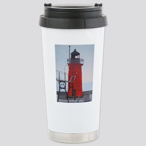 South Haven Lighthouse Stainless Steel Travel Mug