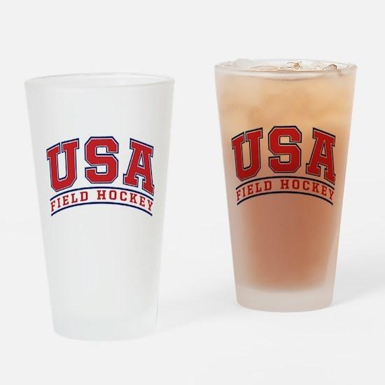 USA Field Hockey Drinking Glass