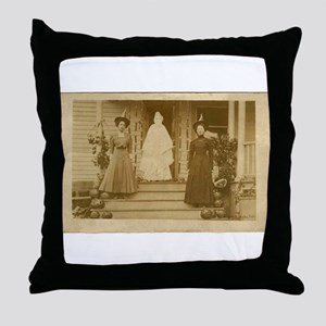 Vintage Halloween Photograph Witches and Ghost Thr