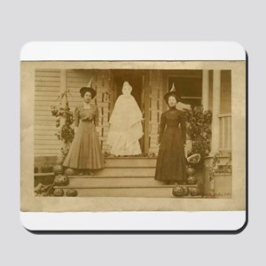 Vintage Halloween Photograph Witches and Ghost Mou