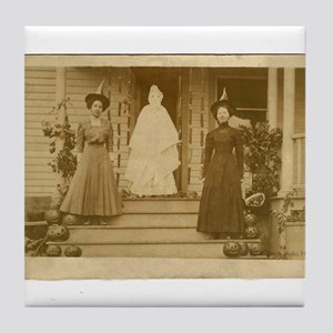 Vintage Halloween Photograph Witches and Ghost Til