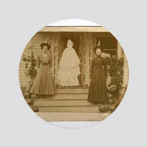 Vintage Halloween Photograph Witches and Ghost 3.5