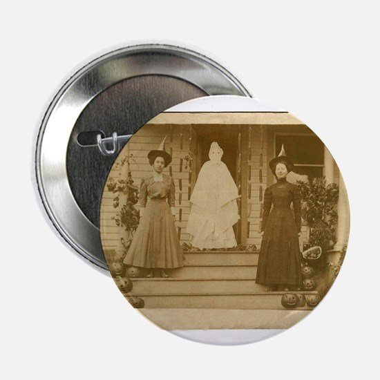 Vintage Halloween Photograph Witches and Ghost 2.2