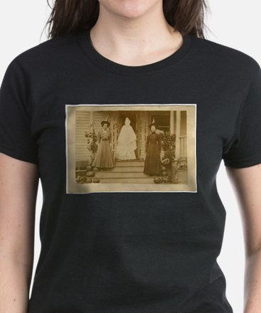 Vintage Halloween Photograph Witches and Ghost Wom