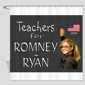 TEACHERS VOTE RIGHT Shower Curtain