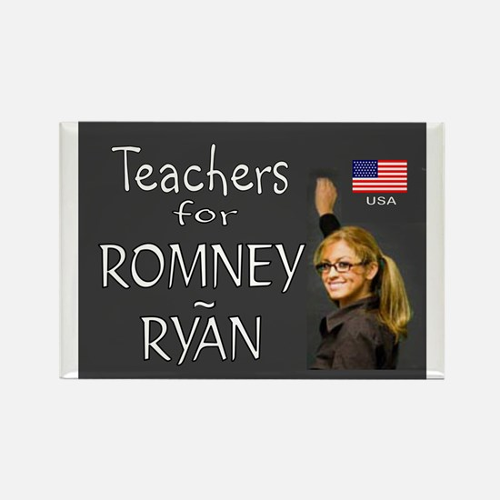 TEACHERS VOTE RIGHT Rectangle Magnet (10 pack)