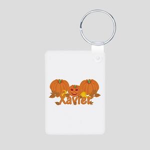 Halloween Pumpkin Xavier Aluminum Photo Keychain