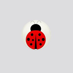 Red and Black Ladybug Mini Button