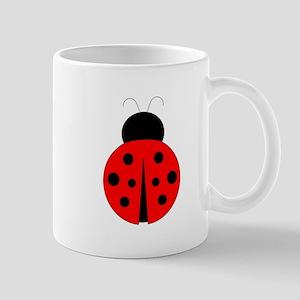 Red and Black Ladybug Mug