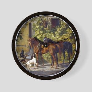 Adam Albrecht Horses at the Porch Wall Clock