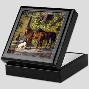 Adam Albrecht Horses at the Porch Keepsake Box