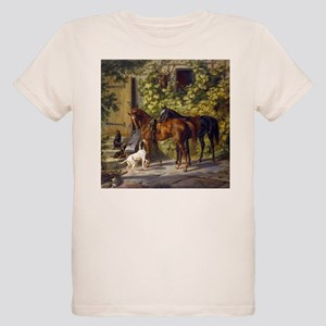 Adam Albrecht Horses at the Porch Organic Kids T-S
