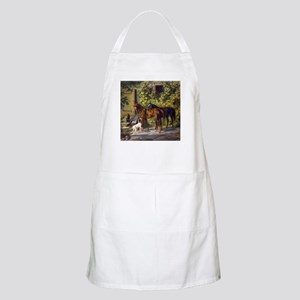 Adam Albrecht Horses at the Porch Apron