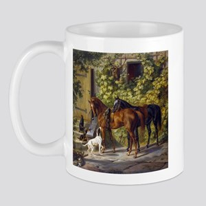 Adam Albrecht Horses at the Porch Mug