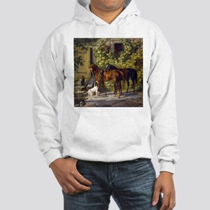 Adam Albrecht Horses at the Porch Hooded Sweatshir