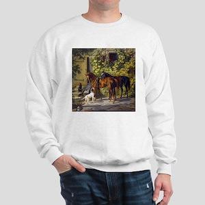 Adam Albrecht Horses at the Porch Sweatshirt