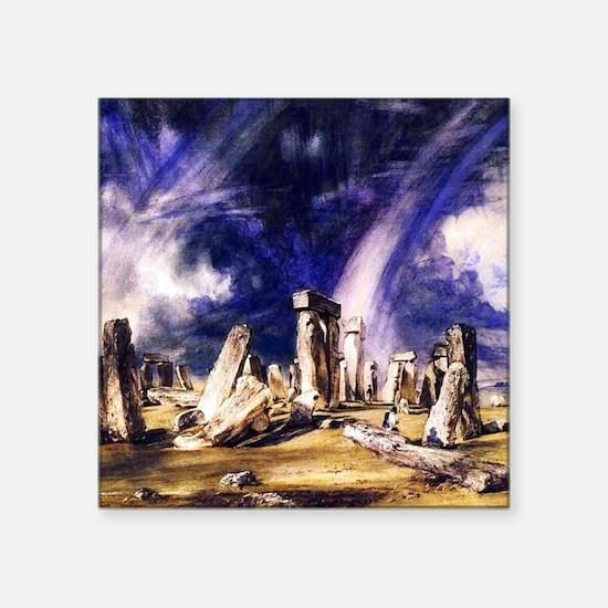 "John Constable Stonehenge Square Sticker 3"" x 3"""