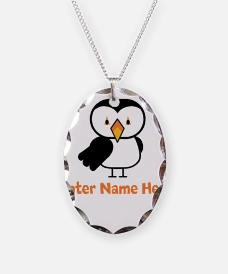 Personalized Puffin Necklace