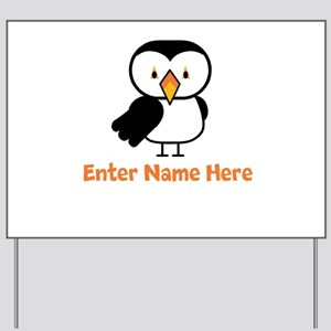 Personalized Puffin Yard Sign