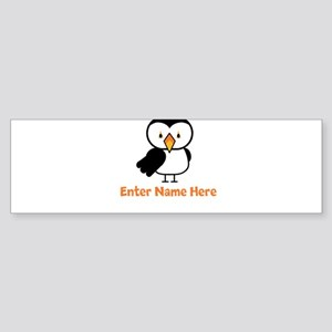 Personalized Puffin Sticker (Bumper)