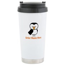 Personalized Puffin Stainless Steel Travel Mug