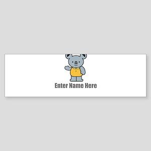 Personalized Koala Bear Sticker (Bumper)